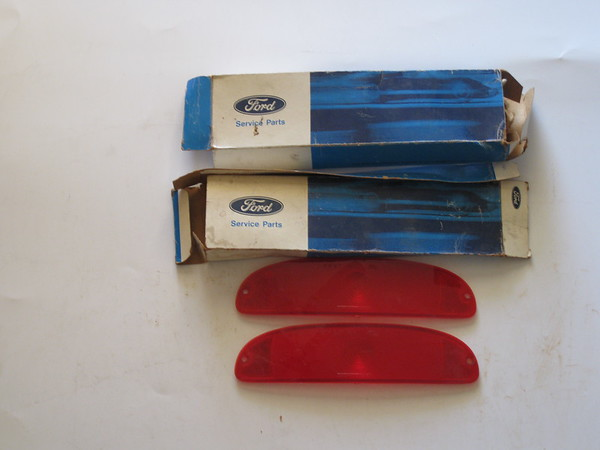 1961 1962 1963 Ford F100 F250 truck NOS tail lamp lens (pair) # c1tb-1345-b