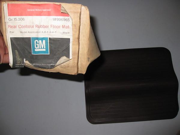 1981 Buick Chevrolet Oldsmobile Pontiac NOS rear floor mats # 996965