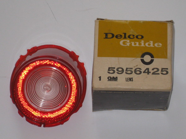 1965 Chevrolet Biscayne Bel Air NOS back up reverse lamp lens # 5956425