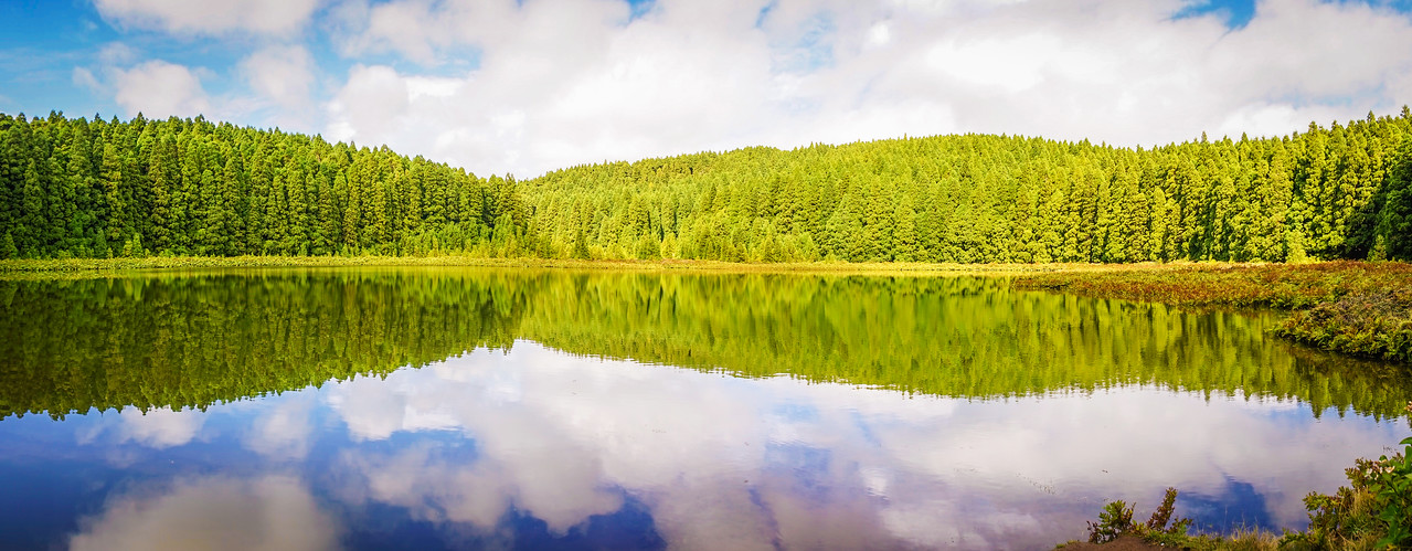 Original Portugal Peace Lagoon Panoramic Photography 2 By Messagez com