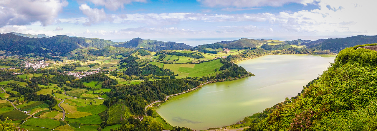 Azores Sao Miguel Island Furnas Lagoon Panoramic Photography By Messagez com