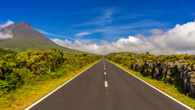 Pico Island Road to The Biggest Mountain in Portugal Photography By Messagez com