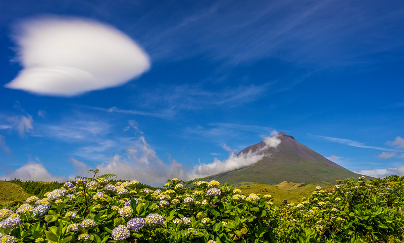 Peculiar Cloud over Pico Island in Azores Photography By Messagez com