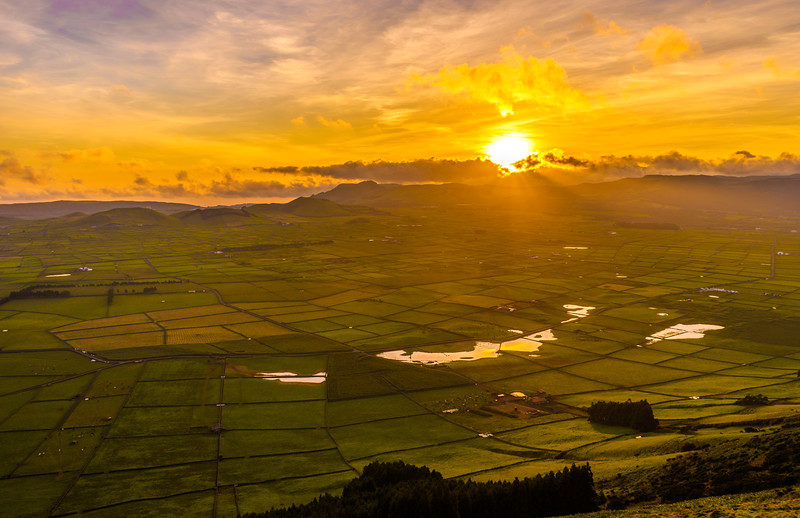 Original Terceira Island Viewpoint Sunset Photography 7 By Messagez com