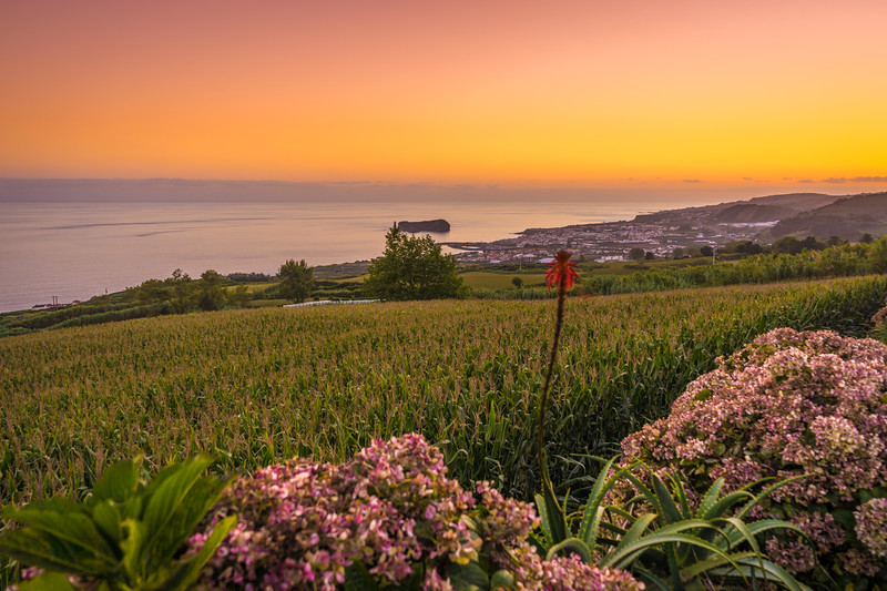Azores Sao Miguel Island Sunset Landscape Photography 6 By Messagez com