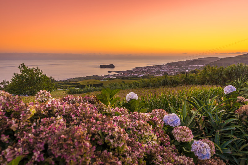 Azores Sao Miguel Island Sunset Landscape Photography 5 By Messagez com