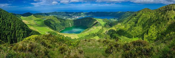 Original Azores Sao Miguel Island Lagoons Viewpoint Panorama Photography By Messagez com