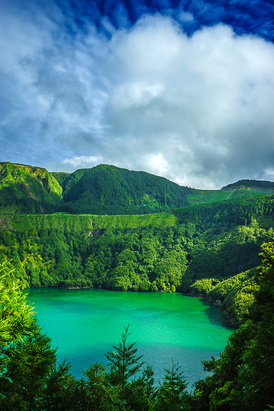 Portugal Azores Magic Green Lagoon Photography 2 By Messagez com