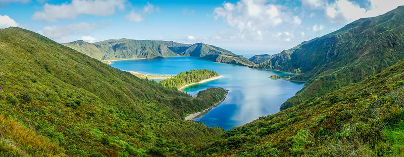 Azores Sao Miguel Island Fire Lagoon Panoramic Landscape Photography By Messagez com
