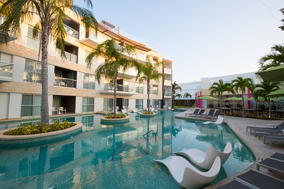 The Azul Fives Beach Resort in Playa del Carmen in Mexico