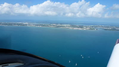 Approaching Key West.