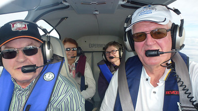 On our way to Key West in the RV-10, a two hour fight flying at 8000 ft.
