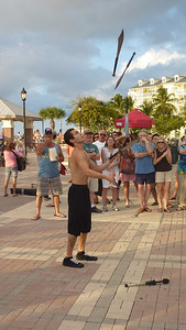 A young and very talented street performer in Mallory Square. One of several.