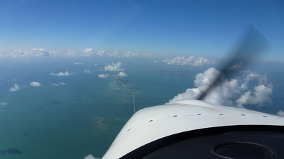 Flying along the Highway between Marathon and Key West