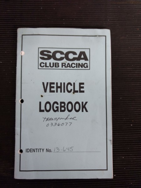 August 1998 SCCA logbook, #13-645,  DSR.  Issued to Don Baker.  Tech pages indicated it was raced by Don Baker 1998-2000. Sold to Jim Stinehelfer in May 2001.  Tech pages indicate Jim  raced it once 2001, Annual Tech 2002 and raced once in 2002.