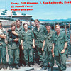 Casey, Cliff Misemer, ?, Ken Karbowski, Ken Buster, ?, Lt. Donald Perry.<br /> Dogs: Peanut & Bear.