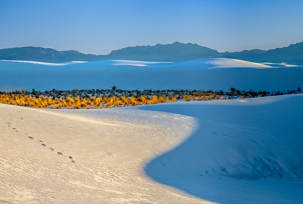 Clouds and Mountains, White Sands National Monument
