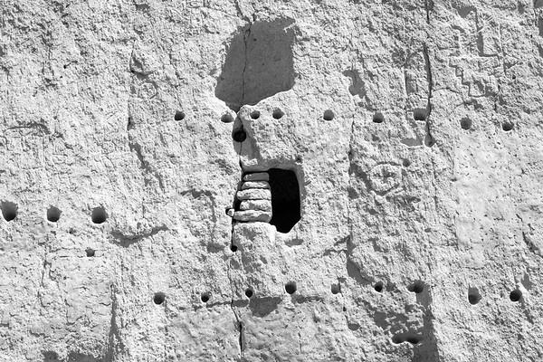 Cliff Detail Bandelier National Monument