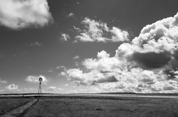 Windmill and Clouds, New Mexico