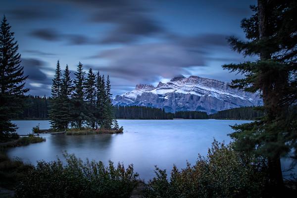 Sunrise at Two Jack Lake Alberta