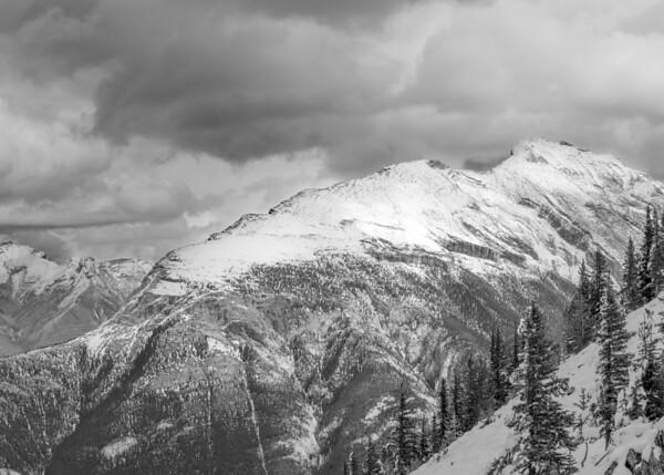 Snowy Mount Banff