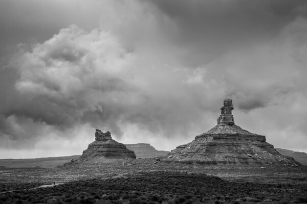 Man Approaching Storm - Valley of the Gods, Utah