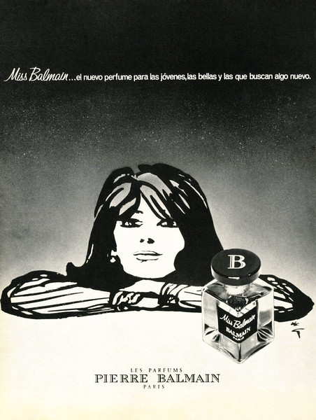 PIERRE BALMAIN Miss Balmain 1969-1970 Spain 'El nuevo perfume para las jóvenes, las bellas y las que buscan algo nuevo'