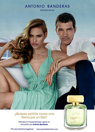 ANTONIO BANDERAS Queen of Seduction 2016 Spain (format Hola 24 x 33 cm) <br /> 'The new feminine fragrance - ¿Quieres sentirte como una reina pou un día?'