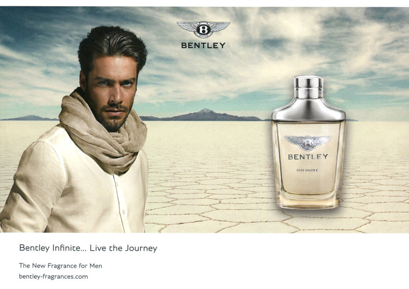 BENTLEY Infinite 2016 UK half page 'Live the journey - The new fragrance for men'