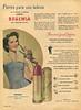 BOHEMIA lipstick 1951 Argentina 'Flores para sus labios'