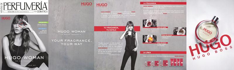 BOSS Hugo Woman 2015 Spain (glossy 5-page foldout)