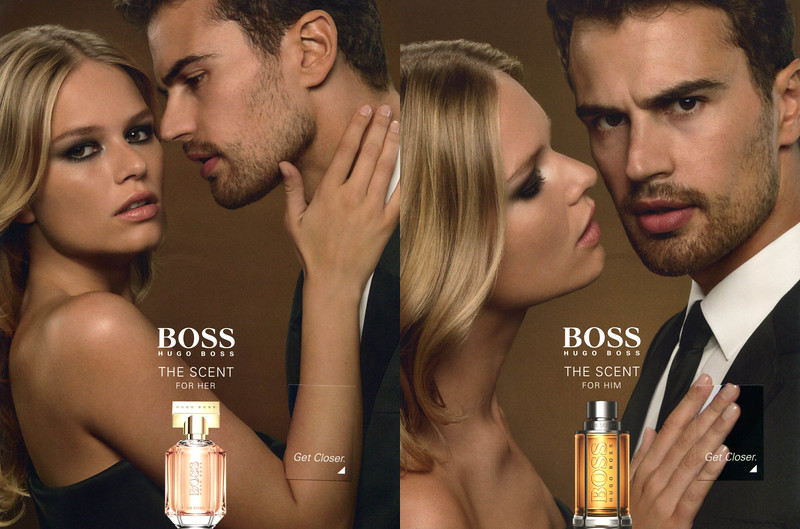 BOSS The Scent for Her & for Him 2016 Spain (recto-verso with 2 scent patches) 'Get closer'