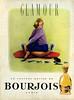 BOURJOIS Glamour 1958 France 'Le nouveau parfum de Bourjois'
