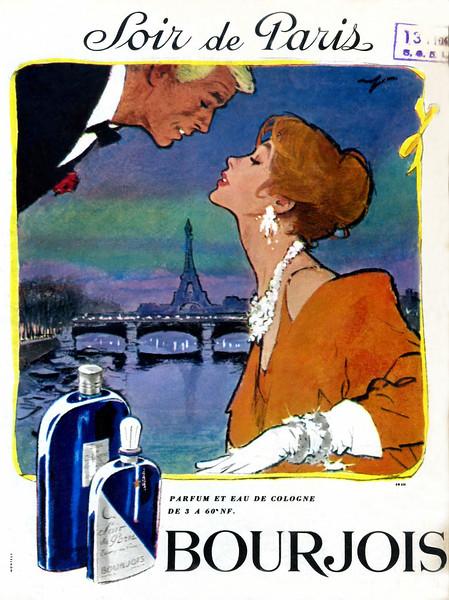 BOURJOIS Soir de Paris 1961 France 'Parfum et Eau de Cologne'