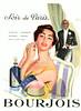 BOURJOIS Soir de Paris 1955 France 'Parfum - cologne - poudre - crème - brillantine'