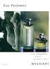 BULGARI Eau Parfumée au Thé Vert 1999 France  'La ligne de fragrances au thé vert pour hommes et femmes'