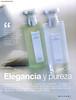BULGARI Les Eaux Parfumées (au Thé Vert & au Thé Blanc) 2003 Spain (publirreportaje Marie Claire) 'Elegncia y pureza'