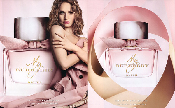 My BURBERRY Blush 2017 US (recto-verso format 22,5 x 27,5 cm with scent strip) 'The new fragrance - Available at Nordstrom'