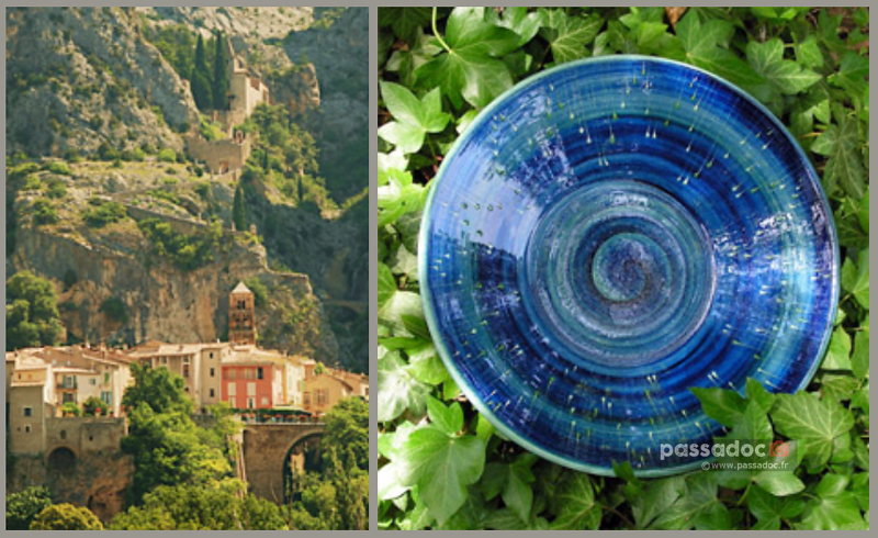 Poterie à Moustiers (Alpes de Haute Provence); pottery in the village of Moustiers (Provence)