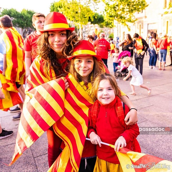 Des supporters catalans ; Supporters from Catalonia