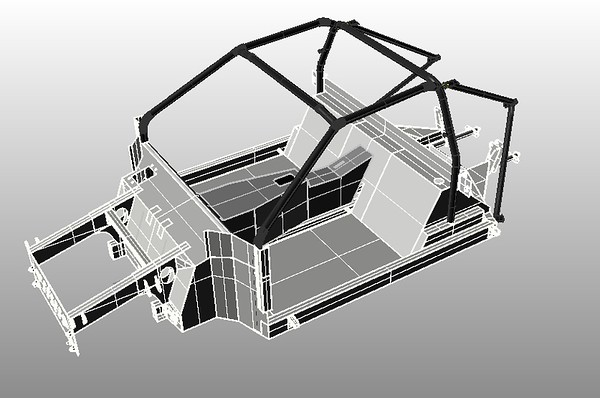 2  Chassis eith Rol Cage