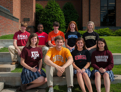 Seniors with college t-shirts 5-3-12