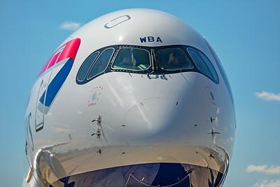 British Airways Airbus A350-1041 G-XWBA 7-29-19 12