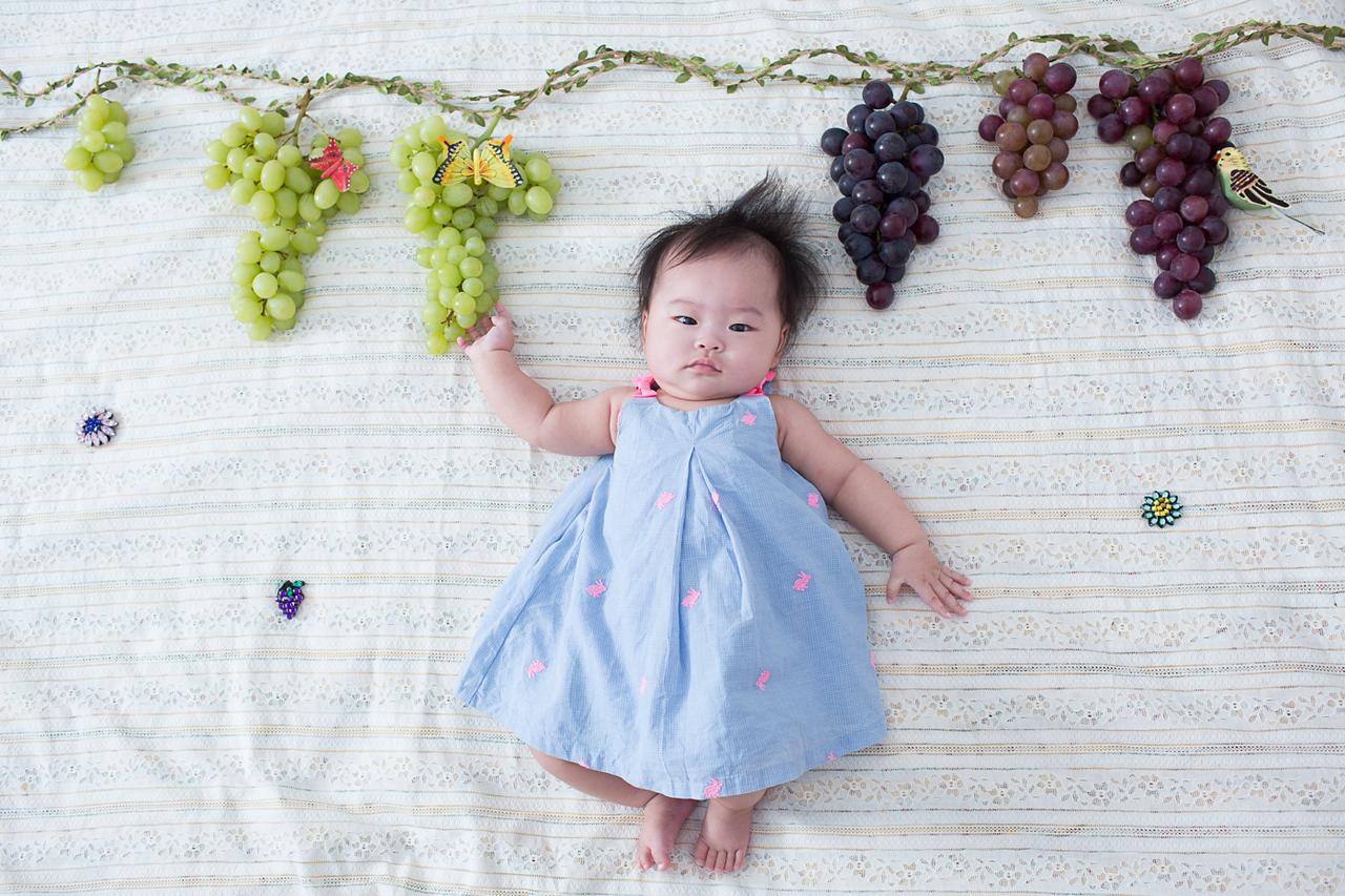 《嬰兒寫真兒童攝影》創意水果公主月曆系列 / 台中攝影師