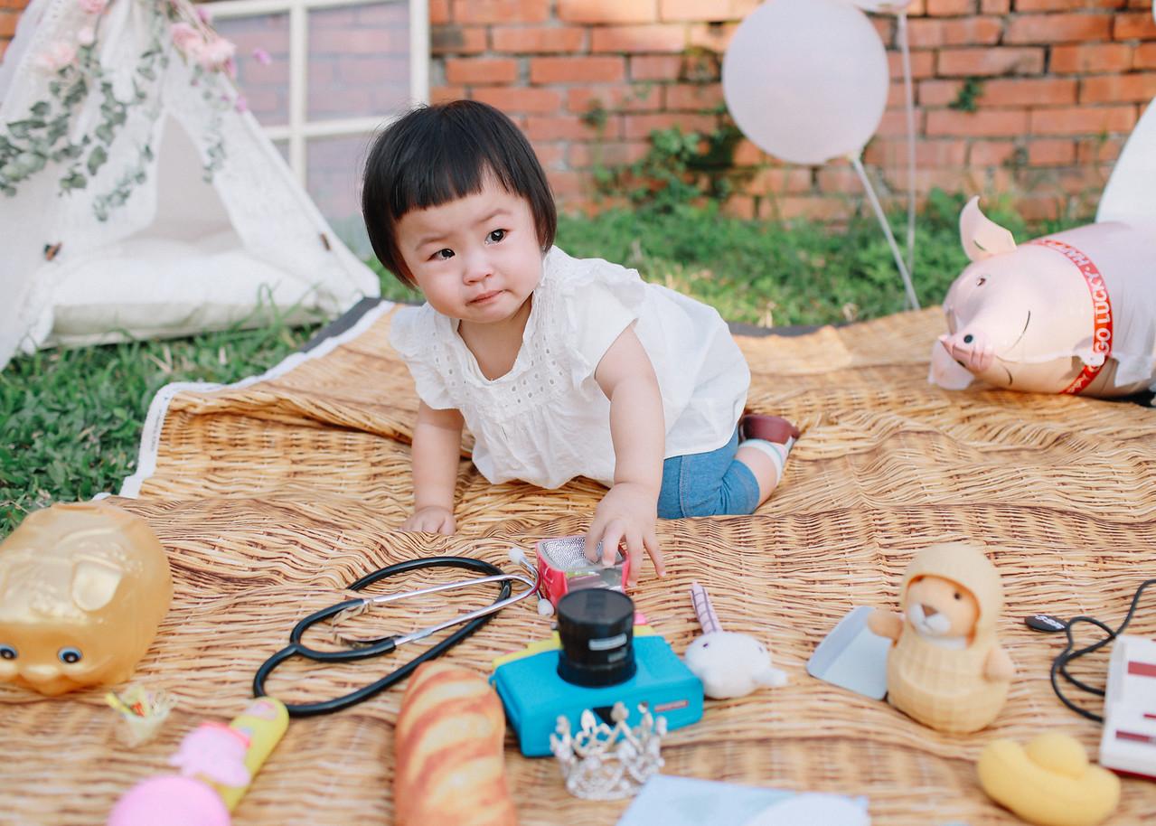 《抓周紀錄兒童寫真》親子抓週攝影 / 台中霧峰光復新村林家花園