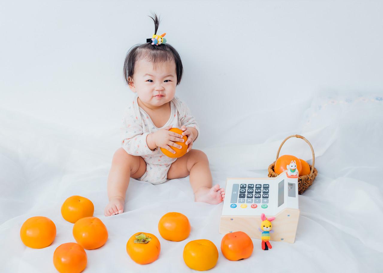 《寶寶寫真兒童攝影》水果女孩柿子公主 / 台中攝影棚
