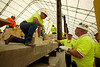 Cincinnati, OH - BAC Executive Board - Bricklayer and Allied Crafts Executive Board visit the jobsite of AK Steel's new coke refractory building which will utilize over 4,000,000 bricks in the coming months as it nears completion Date: Thursday July 15, 2010 Photo by © BAC/Todd Buchanan 2010  Technical Questions: todd@toddbuchanan.com; Phone: 612-226-5154.