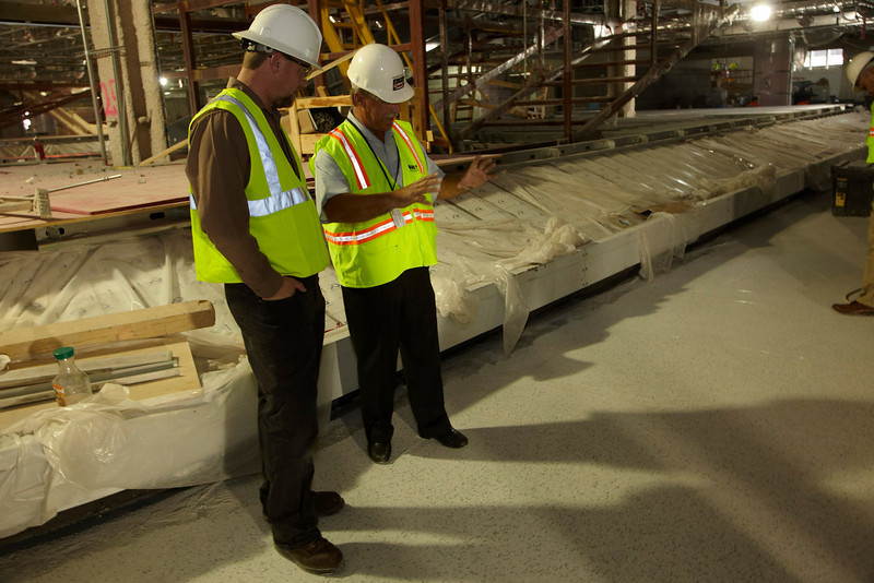 Las Vegas, NV - BAC Executive Board - Bricklayer and Allied Crafts Executive Board visit the jobsite of the new Las Vegas Airport terminal that local 13 members are working on - Tile, Marble Terazzo, Date: Monday July 26, 2010 Photo by © BAC/Todd Buchanan 2010  Technical Questions: todd@toddbuchanan.com; Phone: 612-226-5154.
