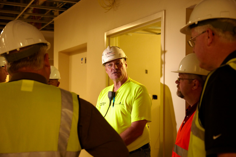 Addison, IL - BAC Executive Board members visit  the IMI Masonry Fair in suburban Chicago and visit the new Elmhurst Memorial Hospital being build in suburban Chicago. Date: Tuesday June 1, 2010 Photo by © BAC/Todd Buchanan 2010  Technical Questions: todd@toddbuchanan.com; Phone: 612-226-5154.