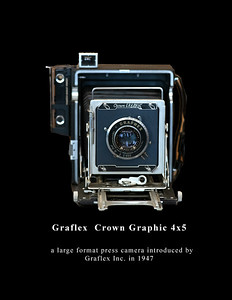 Graflex  Crown Graphic 4x5 - 1953